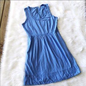 J. Crew Mini Blue Sleeveless Shift Dress